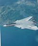 F-14 glove vanes out, coast of California