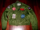 Flight Jacket with 200 combat missions, and original Topgun patches