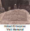 USS Enterprie memorial to Hobart, Tasmania