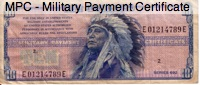 military pay currency
