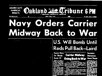 USS Midway Ordered to War