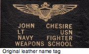 Top Gun name tag